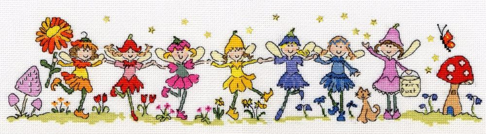 Row of Fairies - Bothy Threads Cross Stitch