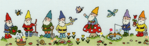 Row of Gnomes - Bothy Threads Cross Stitch