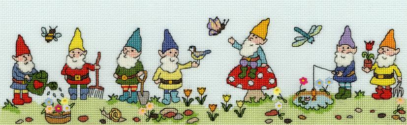 Row of Gnomes - Bothy Threads Cross Stitch