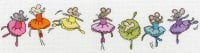 Row of Sugar Plum Mice - Bothy Threads Cross Stitch