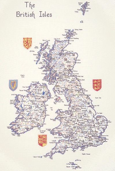 The British Isles - Cross Stitch CHART ONLY