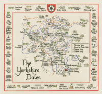 Yorkshire Dales Map Cross Stitch Kit - Heritage Crafts