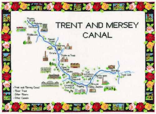 Trent & Mersey Canal Cross Stitch Kit