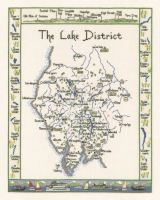 Lake District Map Cross Stitch CHART ONLY