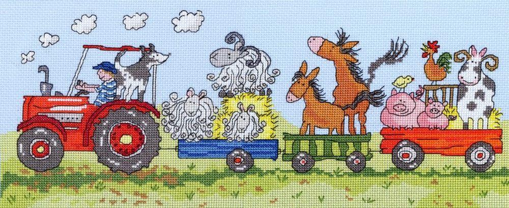 Old Macdonald Cross Stitch Kit - Bothy Threads