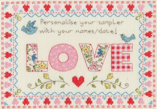 Love Sampler - Bothy Threads