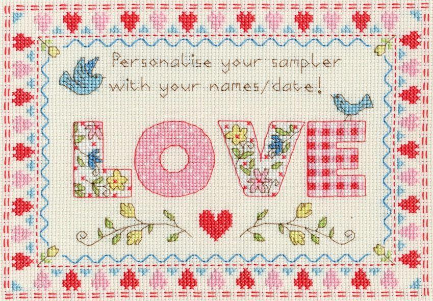 Love Sampler - Bothy Threads