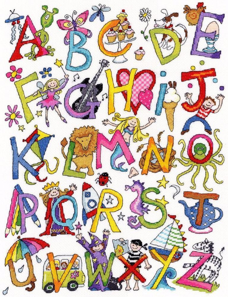 Alphabet Fun Sampler - Bothy Threads