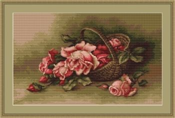 Basket of Flowers - Cross Stitch Kit by Luca-S