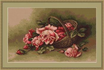 Basket of Flowers - Cross Stitch Kit by Luca-S