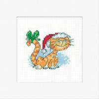 Christmas Tigger - Cat's Rule Cross Stitch Card