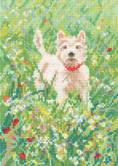 The Scamp Westie Dog - Memories Cross Stitch