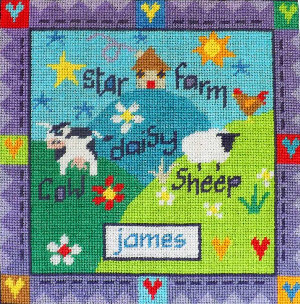 Farmyard Sampler Tapestry Kit - Stitching Shed