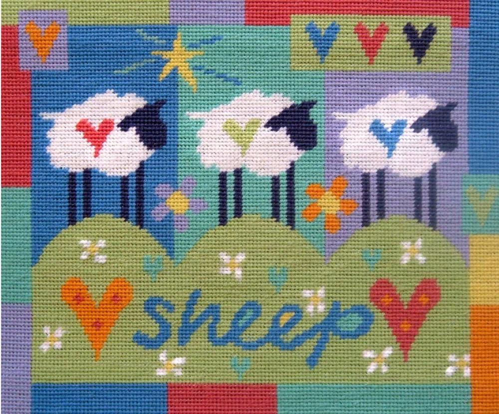 Three Sheep Tapestry Kit - Stitching Shed