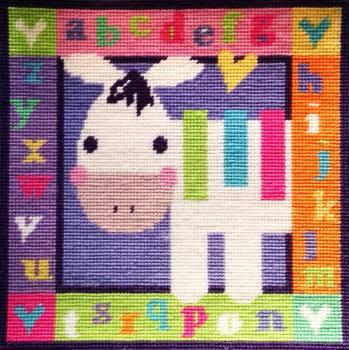 Zebra Alphabet Tapestry Sampler