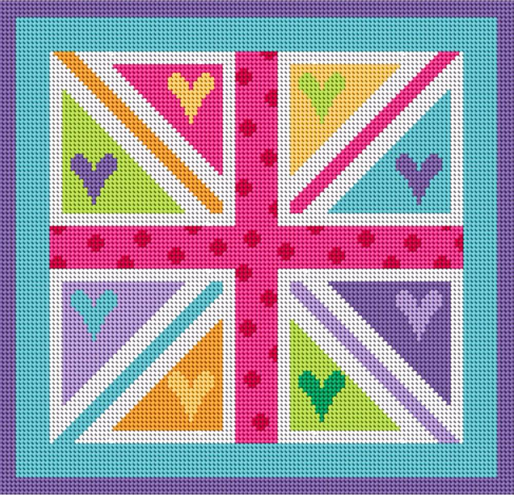 Union Jack Jubilee Tapestry Kit - Stitching Shed