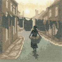 Wash Day - Sepia Cross Stitch