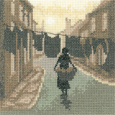 Wash Day - Sepia Cross Stitch by Heritage Crafts