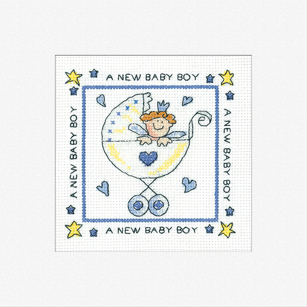 New Baby Boy Card Kit - Heritage Crafts