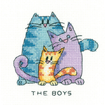 The Boys - Simply Heritage Cat Cross Stitch