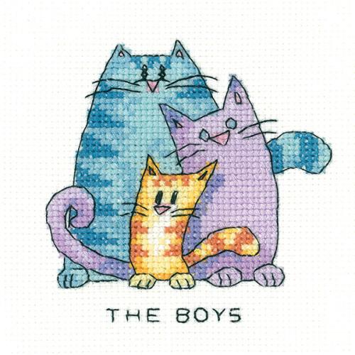 The Boys - Simply Heritage Cat Cross Stitch