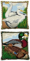 Set of two Duck Kits - Cross Stitch (7 hpi printed canvas)