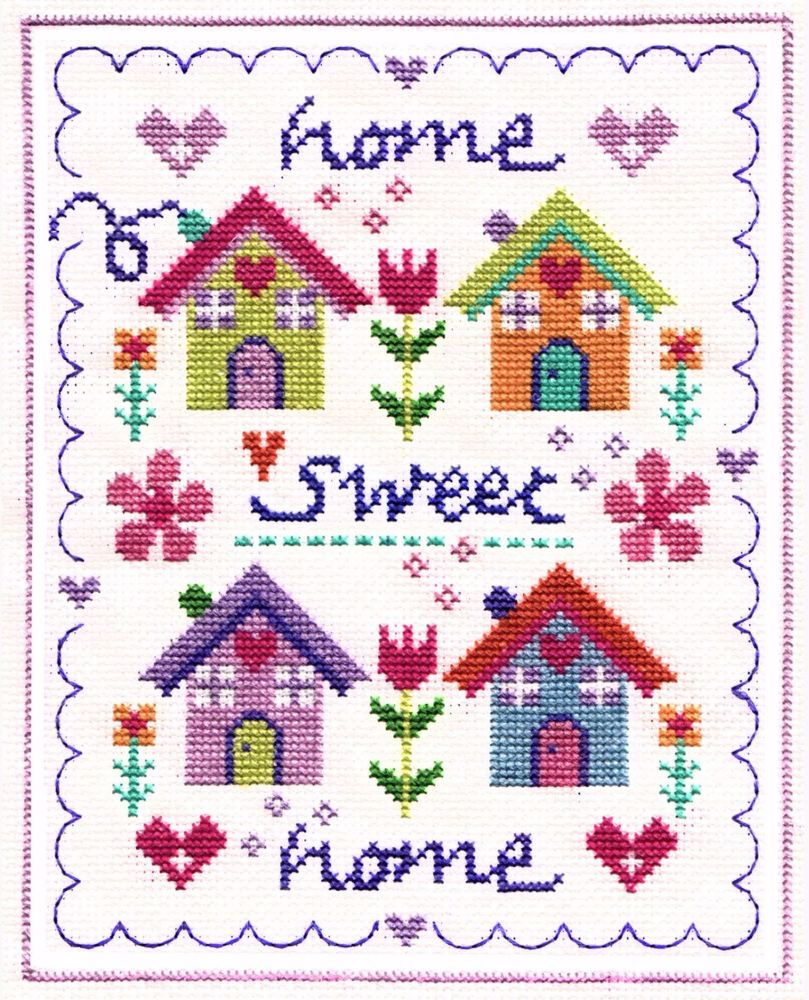 Floral Home Cross Stitch
