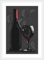Red Wine Cross Stitch - Luca S