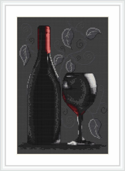 Red Wine Cross Stitch - Luca S