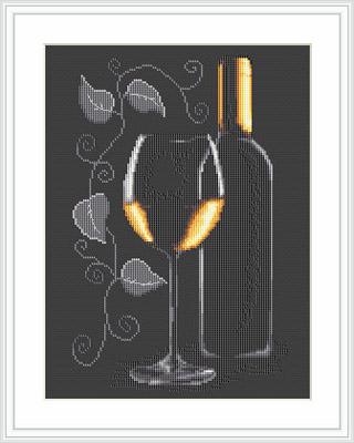White Wine Cross Stitch - Luca S