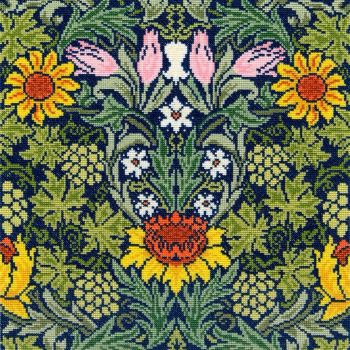 Sunflowers  (William Morris)  Cross Stitch
