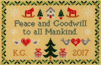 Peace and Goodwill - Bothy Threads Cross Stitch