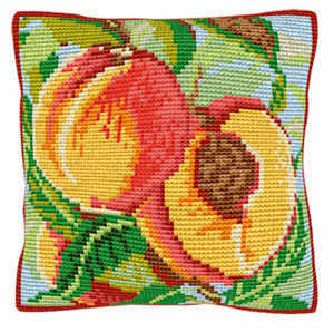 Peaches -  Cross Stitch Kit (printed canvas)