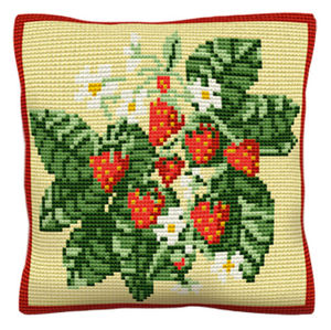 Strawberries -  Cross Stitch Kit (printed canvas)