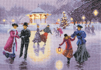 Christmas Skaters - John Clayton Cross Stitch