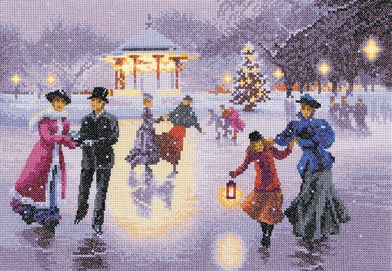 Christmas Skaters - John Clayton Cross Stitch