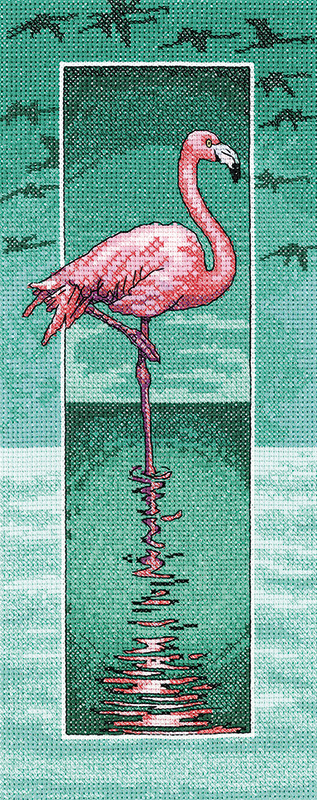 Flamingo Cross Stitch - Heritage Crafts