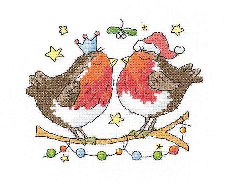 Christmas Kiss - Simply Heritage Cross Stitch