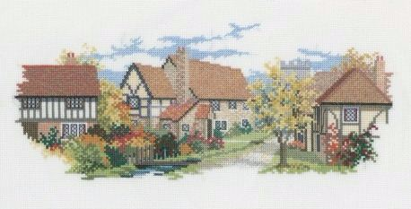 October Lane Cross Stitch