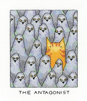 The Antagonist - Simply Heritage Cat Cross Stitch