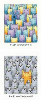 The Imposter and The Antagonist - Set of 2 Cats