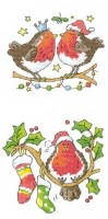 Christmas Kiss and Round Robin - Set of 2 Cross Stitch