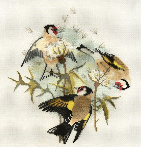 Goldfinches and Thistles Cross Stitch