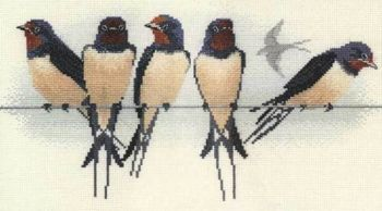 Swallows Cross Stitch