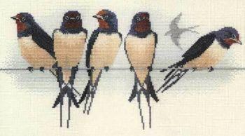 Swallows Cross Stitch