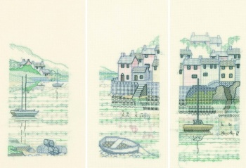 Set of 3 Creative Blackwork Kits - Harbour View