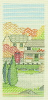 Village Shop Creative Coloured Blackwork