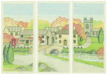 Set of 3 Creative Blackwork Kits - The Village