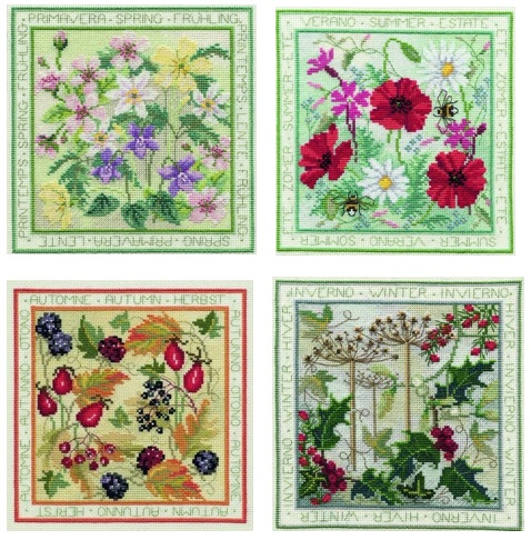 Four Seasons Cross Stitch Set