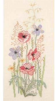 Summer Seasons Panel - Coloured Blackwork